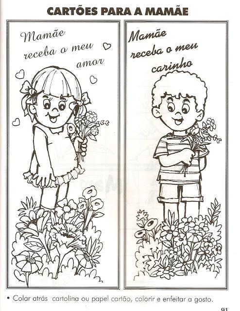 ... para atividade das crianças do dia das mães cartões dia das mães