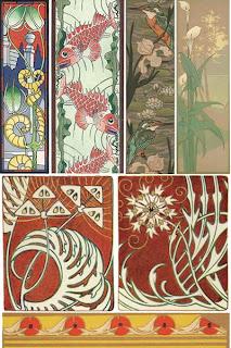 Большая коллекция элементов дизайна Art Nouveau