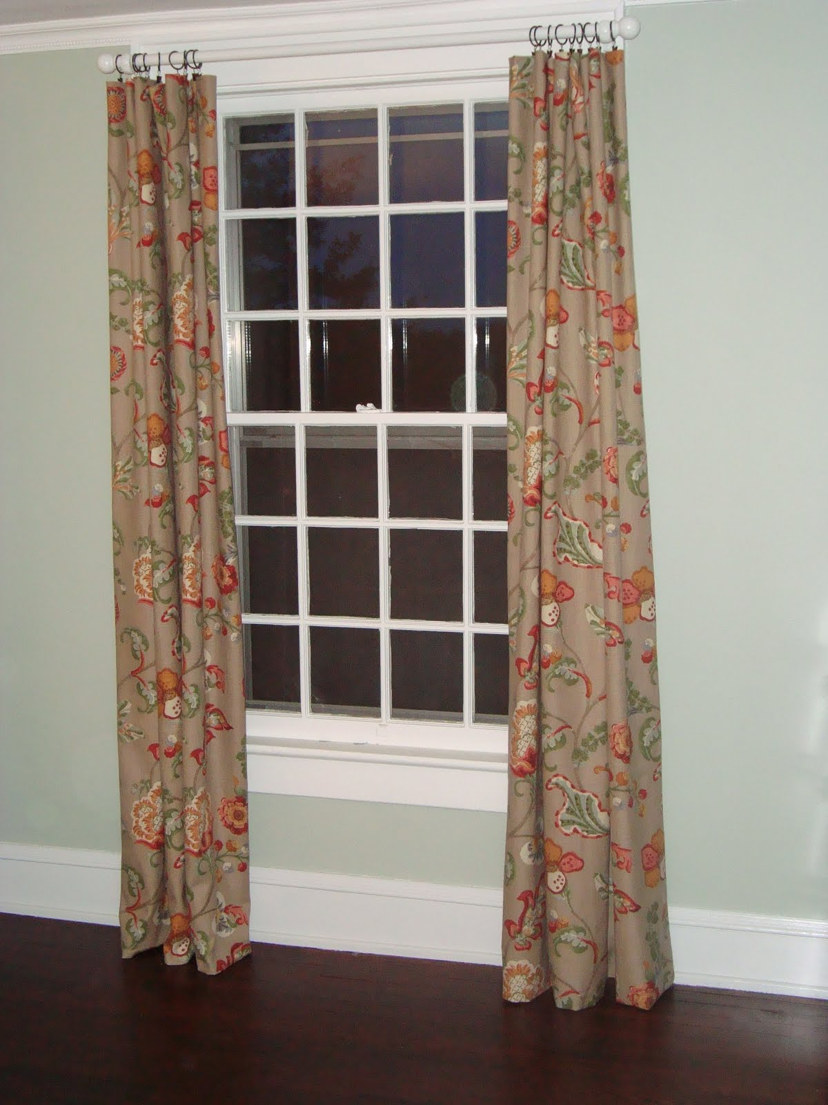 ... My Handyman Hung The Curtain Rod (from Loweu0027s  Same As Our Curtain Rods  In The Other Bedroom) And We Attached The Curtain Rings (from Tuesday  Morning), ...