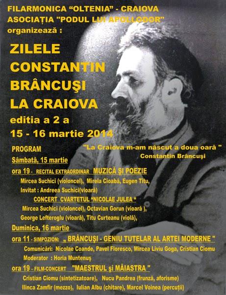Zilele Constantin Brancusi la Craiova 2