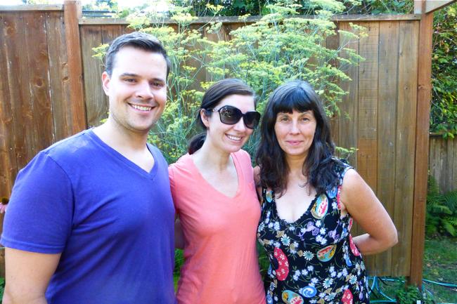 Joey, Kaede, June, family