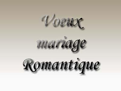 Voeux de mariage romantique