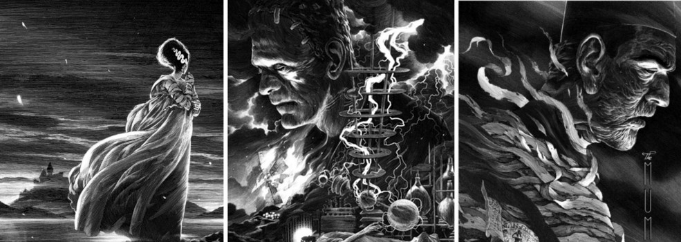 Universal's Classic Monsters by Nicolas Delort & Dark Hall Mansion - Undead Monday