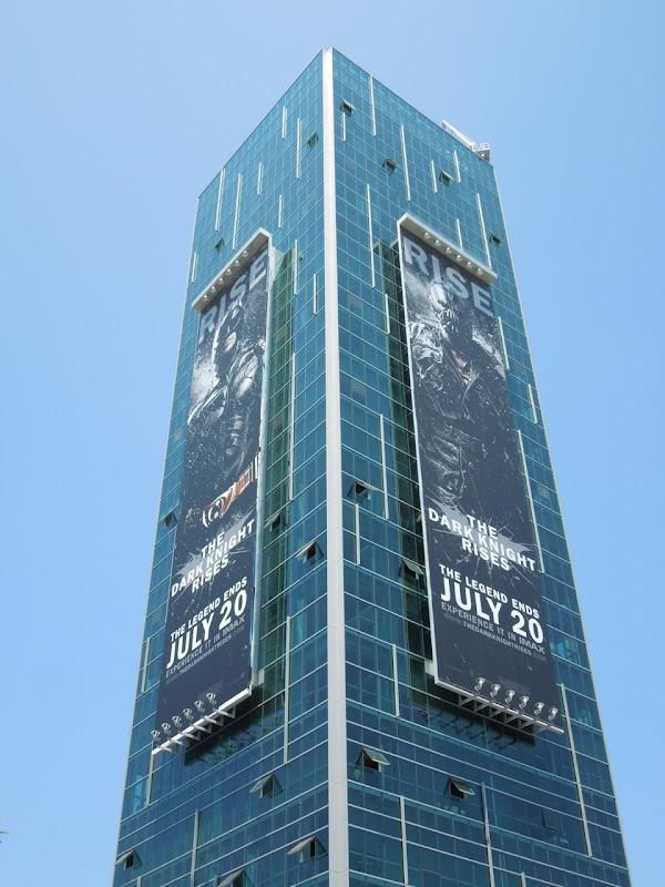 Dark Knight Rises billboards Sunset Vine