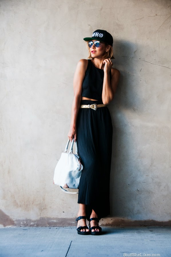 crop top, luke wessman, snapback hat, alexander wang purse, fashion blogger, best fashion blogger, best LA fashion blog, taye hansberry, gold belt, red lipstick, black skirt, blogger, top ten fashion blogs