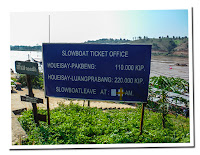 Prices of slowboat in  Laos