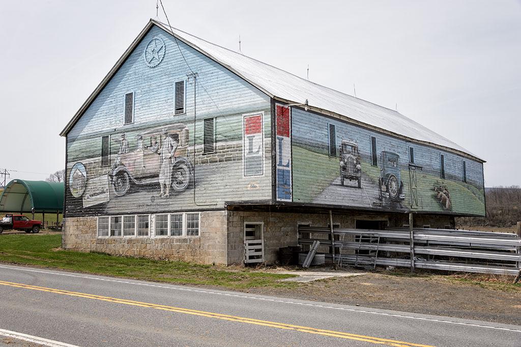 Lincoln Highway Mural - Schellsburg, PA