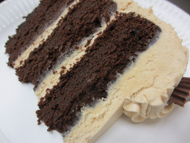 Katie Kay's Kitchen: Chocolate Peanut Butter Layer Cake
