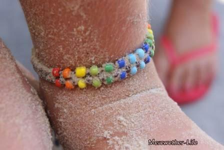 Rainbow Anklet Byron Bay