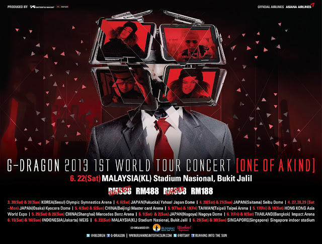g-dragon concert poster one of a kind
