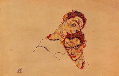Double Self Portrait, Egon Schiele, Auto-Retrato Duplo