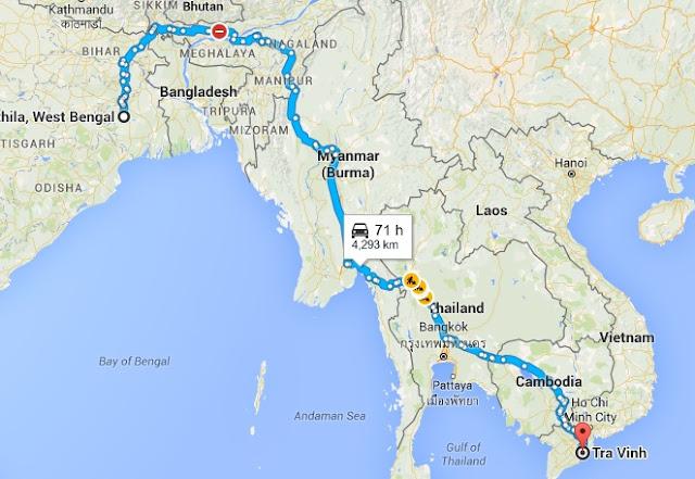Brahmin Kaundinya of Funan Kingdom of Vietnam - Migration Map
