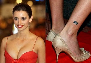Penelope Cruz Tattoo Designs
