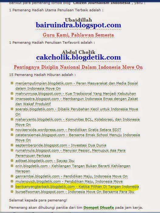 http://berikanyangterbaik.blogdetik.com/ Saadillah Menang Citizen 15 Besar