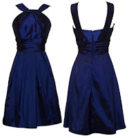 Taffeta Halter Bridesmaid Dress Prom Party Formal Gown