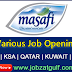 Various Job Opening at Masafi - UAE | KSA | QATAR | KUWAIT | OMAN