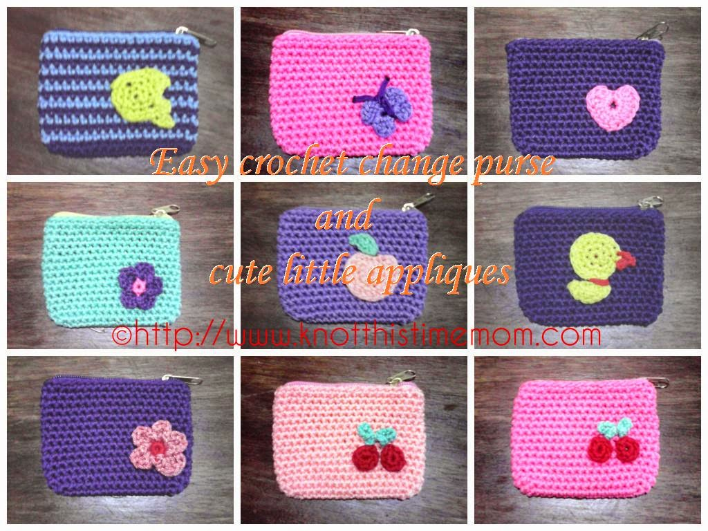 Easy crochet change purse and cute little appliques