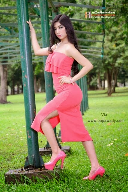 Myanmar Model Mo Mo Ko - Beauty of Pinky Girl