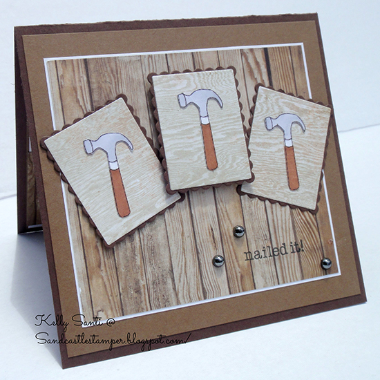 Nailed it! Card by Kelly Santi using Around the House Stamp set by Newton's Nook designs
