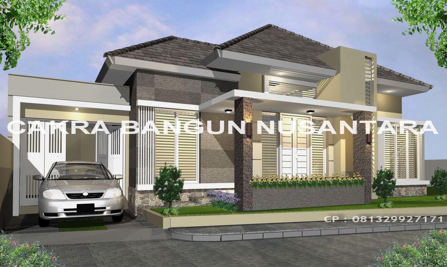 gambar desain rumah mewah minimalis modern 1 lantai terbaru | desain