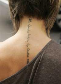 Celebrity Victoria Beckham Tattoo Design