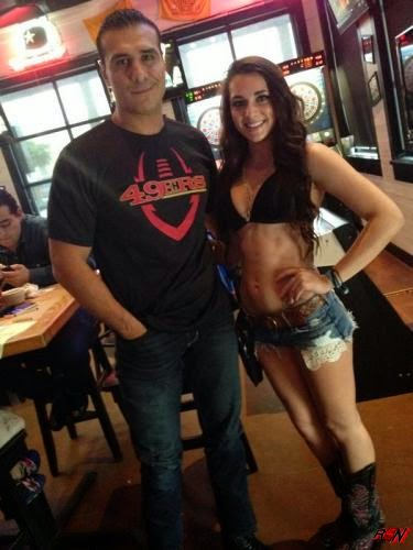 Alberto Del Rio Re-Surfaces with Some Hot Babe.