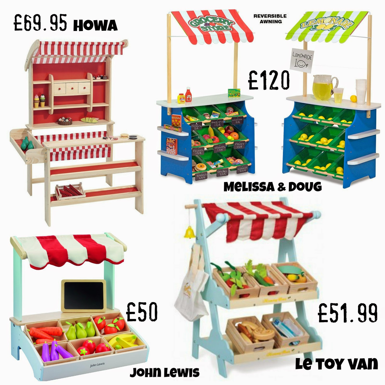 Chic wooden market stalls for imaginative play - and lots of accessories too!   wooden markets and shops   wooden market stalls   role play   play shops   early learning centre john lewis   le toy van   honey bake maker   hows   melissa and doug   play shopping   wooden food   wooden shopping times   shopping trolley   play shopping baskets   little street   shop   imaginative play   wooden toy shop   wooden macrons   wooden biscuits   mamasVIB   christmas gifts   shopping ides   kids toys   learning toys   busy bees    market street   kids shopping bags