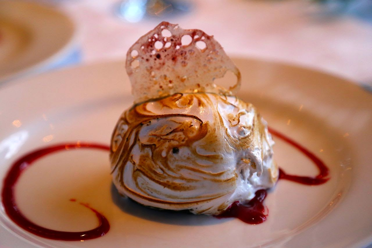 Baked Alaska at the 7 Glaciers restaurant, Alaska