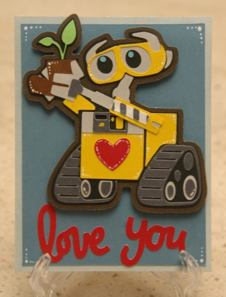 since im such a slacker this year i thought id take a little stroll down memory lane i made this card last year with the lovestruck cartridge - E Valentines Cards