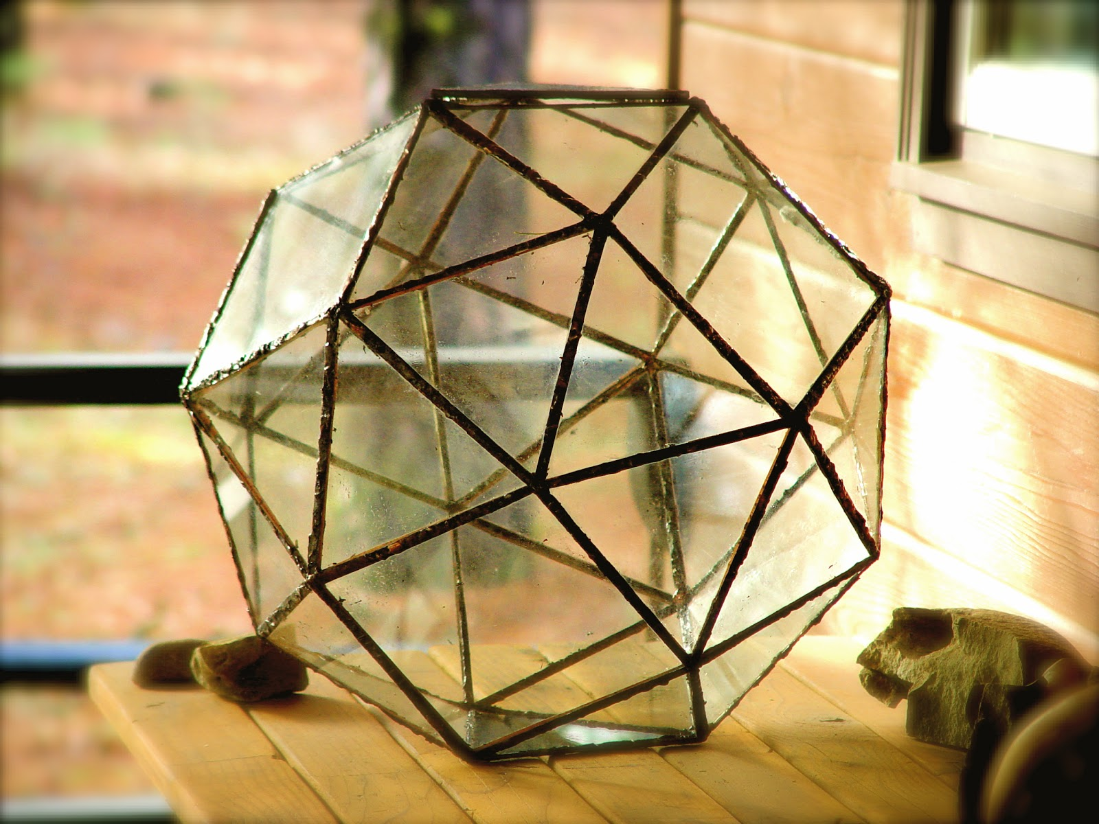The Last Terrarium That I Built Was Most Difficult To Assemble Made In Spokane Washington 2007 This Archimedean Polyhedra Called A Snub
