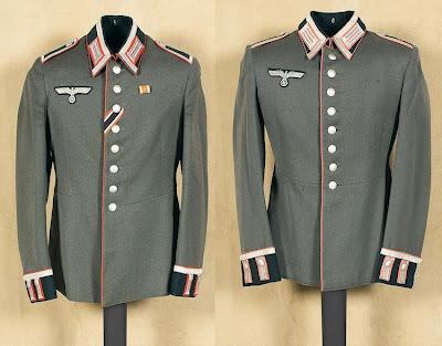 Two Nazi tunics
