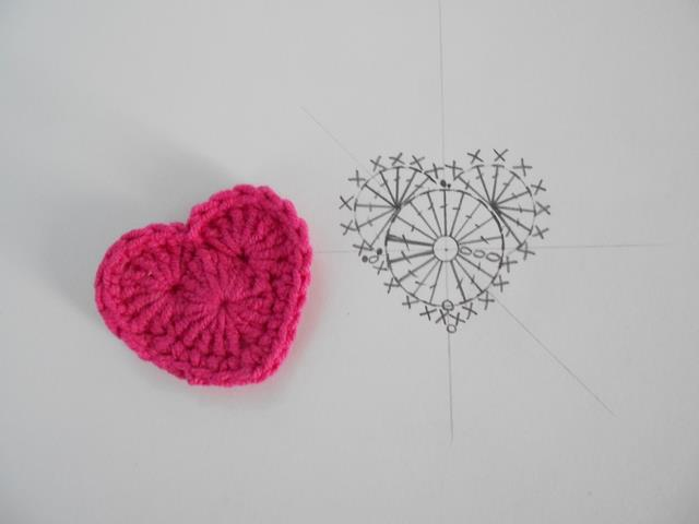 Crochet Heart : Firefly Crochet: Crochet little Heart, with chart and pattern