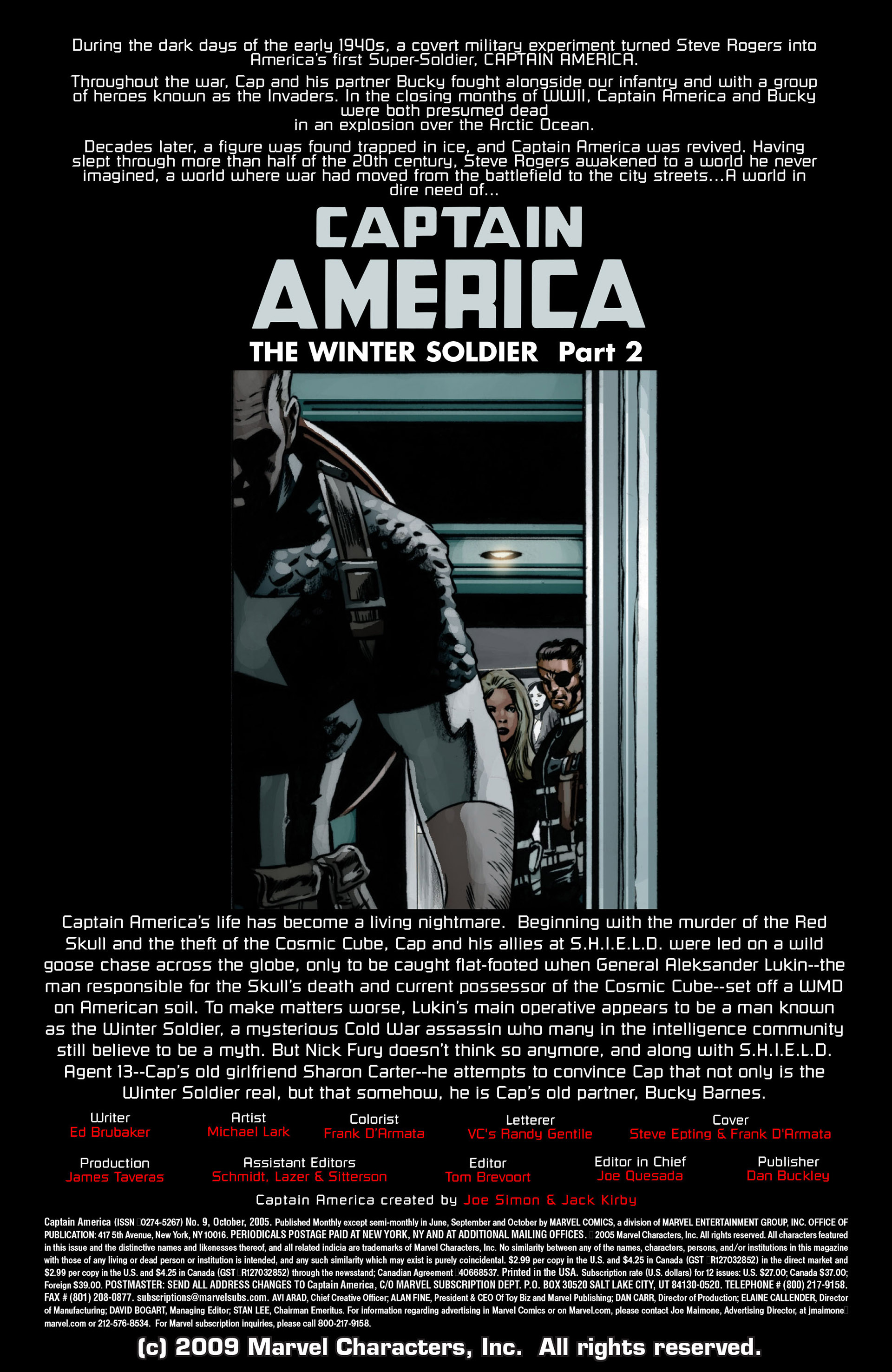 Captain America (2005) Issue #9 #9 - English 2