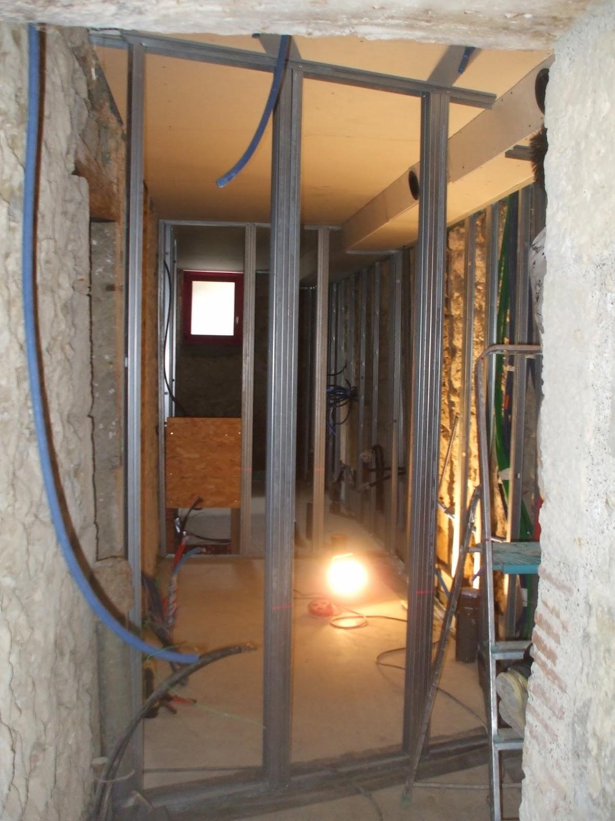 Les terrasses de bessou chantier maintenant 5 6 octobre 2013 cloisons - Cloison salle de bain ...