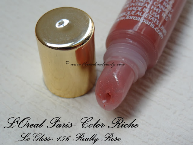 loreal le gloss really rose review2