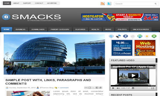 Smacks Blogger Template