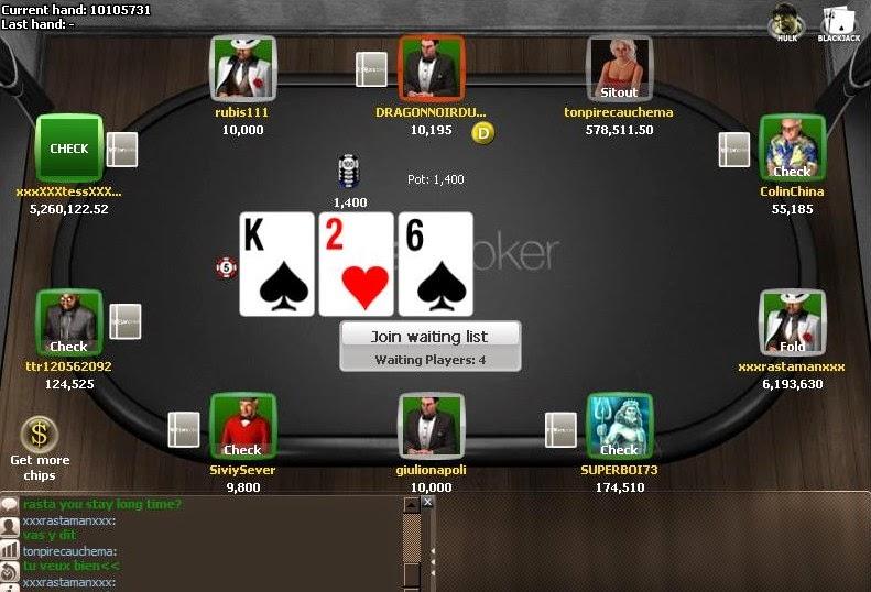 Titan Poker Table Screen