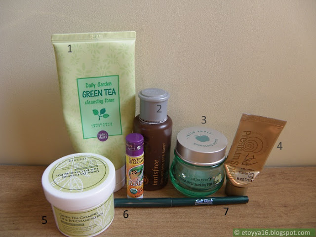 Holika Holika, Innisfree, Skinfood, Tonymoly, It's Skin, Badger Balm, Soft Touch