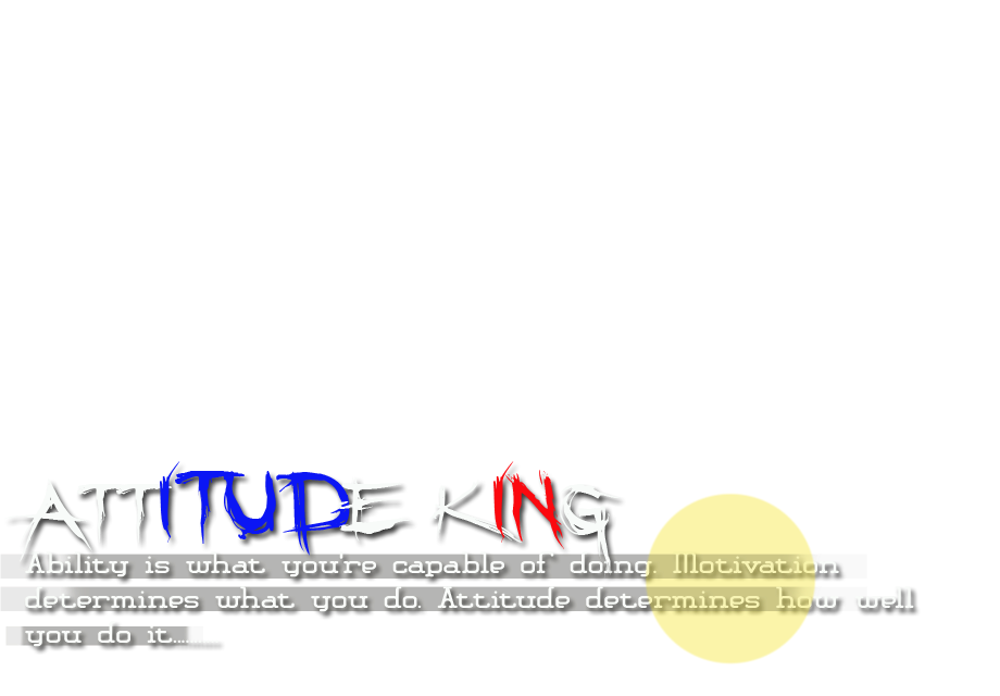 ATTITUDE Png Text