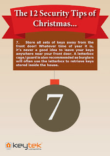 Keytek 24 hour locksmiths The 12 Security Tips of Christmas