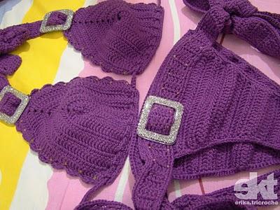 TRICO y CROCHET-madona-mía: Biquini a crochet paso a paso con hilo ...