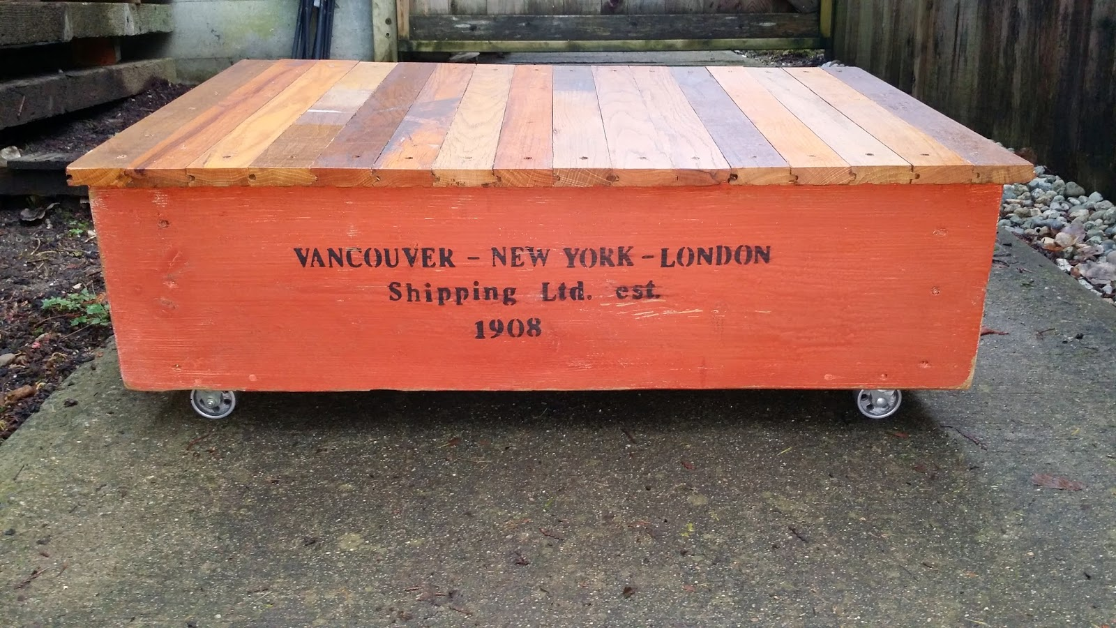 Shipping Crate Styled Coffee Table Reclaimed Wood - Shipping crate coffee table