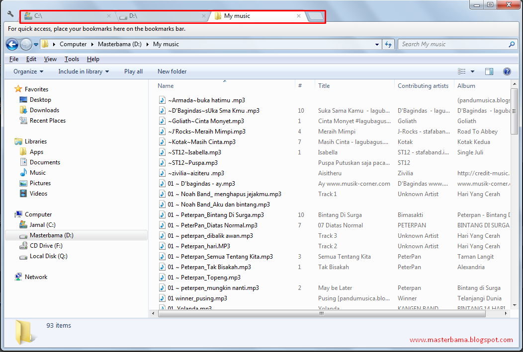 Ubah Windows Explorer Dengan Clover