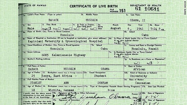 the michigan silverback: obama's birth certificate released - not a joke