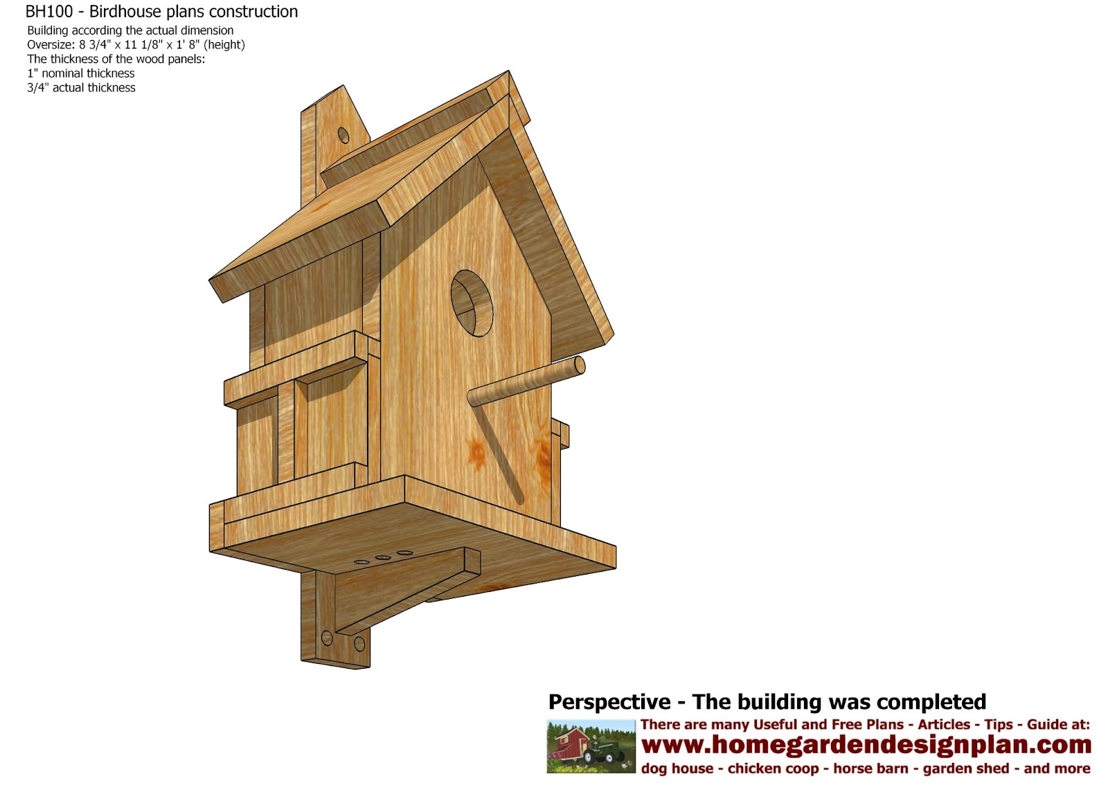 Build a coop blog bh100 bird house plans construction for House plan builder free