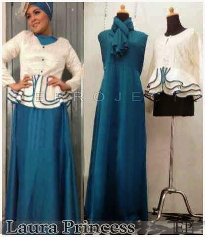 Maxi Dress Tgn buntung+Atasan Tgn Pjg Kancing Buka+Pasminah)Spandex Korea, Fit XL