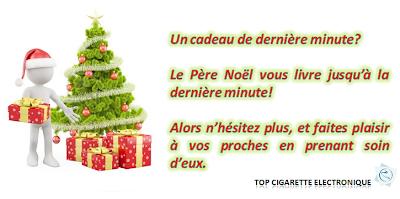 Le Père Noël TOP CIGARETTE ELECTRONIQUE vous livre jusqu'à la dernière minute!