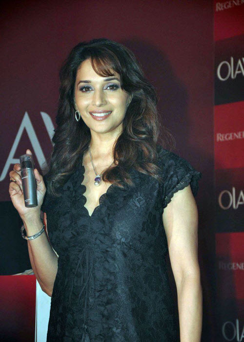 madhuri dixit in black event shoot actress pics