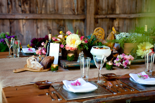 The centerpiece distressed wooden planks and