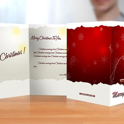 Ready to Print Christmas Card Mockup